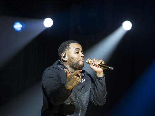 Kevin Gates performs at Ak-Chin Pavilion in Phoenix in this Aug. 24, 2016, file photo. He will perform Oct. 18 at Knoxville Civic Coliseum.