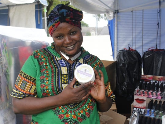 Foureratou Seyni, who sells all-natural hand cream, emigrated from Niger to the United States in 2001. More information about her products can be found at: fourerasbeauty.com