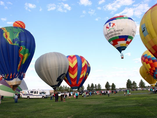 The Solitaire Homes Hot Air Balloon Mass Ascension