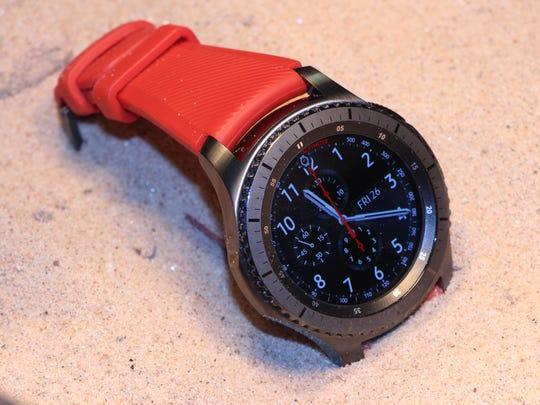 Samsung's new dust-resistant Gear S3 smartwatch.