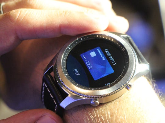 Samsung Pay on the Gear S3.