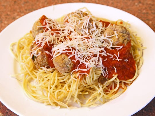 Spaghetti and turkey meatballs are quicker to serve when prepped ahead.