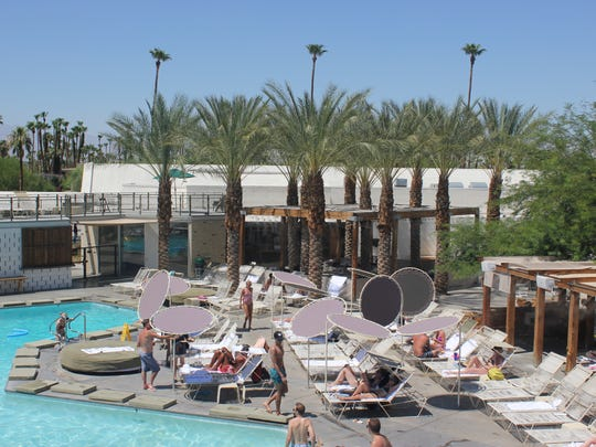 Many local resorts open their pools to visitors and residents, like the Ace Hotel & Swim Club.