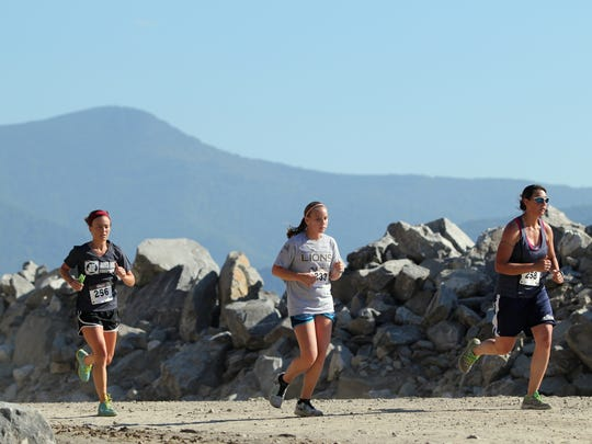 The Rock the Quarry 5K takes runner through an active quarry at Grove Stone & Sand in Black Mountain.
