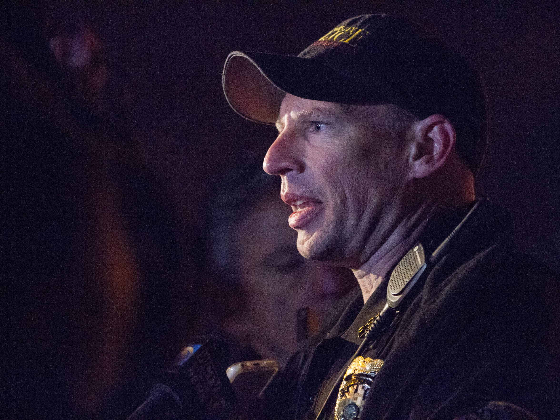 FSU Police Deputy Chief James Russell speaks during a press conference near Strozier library on the main campus of Florida State University on Thursday, Nov. 20, 2014 in Tallahassee, Fla.
