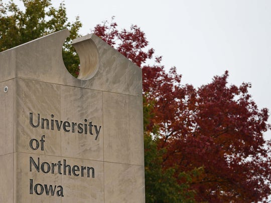 The leaves on the University of Northern Iowa campus are beginning to turn shades of yellow, red and orange on Wednesday, Oct. 21, 2015 in Cedar Falls.
