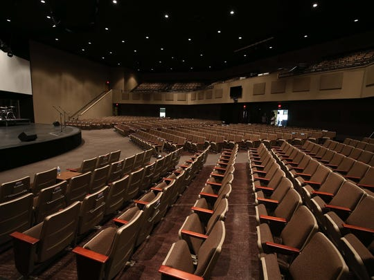 The auditorium at the new James River Church north campus seats about 1,000 people.