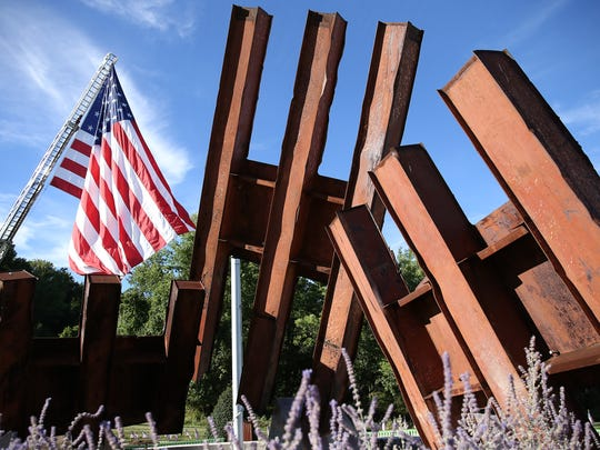 Morris County September 11th remembrance service and candlelight vigil at the Morris 9/11 Memorial. September 11, 2016, Parsippany, NJ