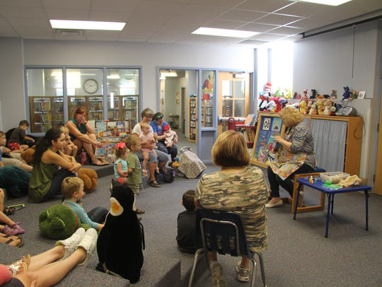 The Carlsbad Public Library host the preschool story