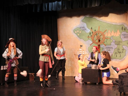 Cast members from Cumberland Players' Kids At CP production