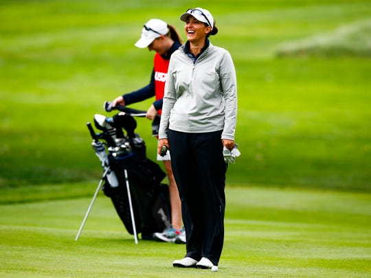 Shannon Johnson at the seventh hole during quarterfinal round of match play at the 2016 U.S. Women's Mid-Amateur at The Kahkwa Club in Erie, Pa. on Wednesday, Sept. 14, 2016.