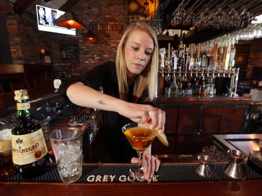 Kasey Councilor of Sparta, one of two Mohawk House bartenders who are competing in the Iron Shaker bartender challenge in Morristown later this month.  September 15, 2016, Sparta, NJ