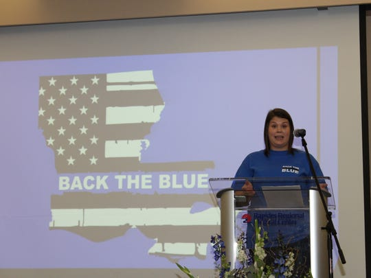 Jessica Swanson tells how the idea for Back the Blue originated and how it went from simply selling T-shirts to buying potentially live-saving kits that area law enforcement officers soon will carry with them.