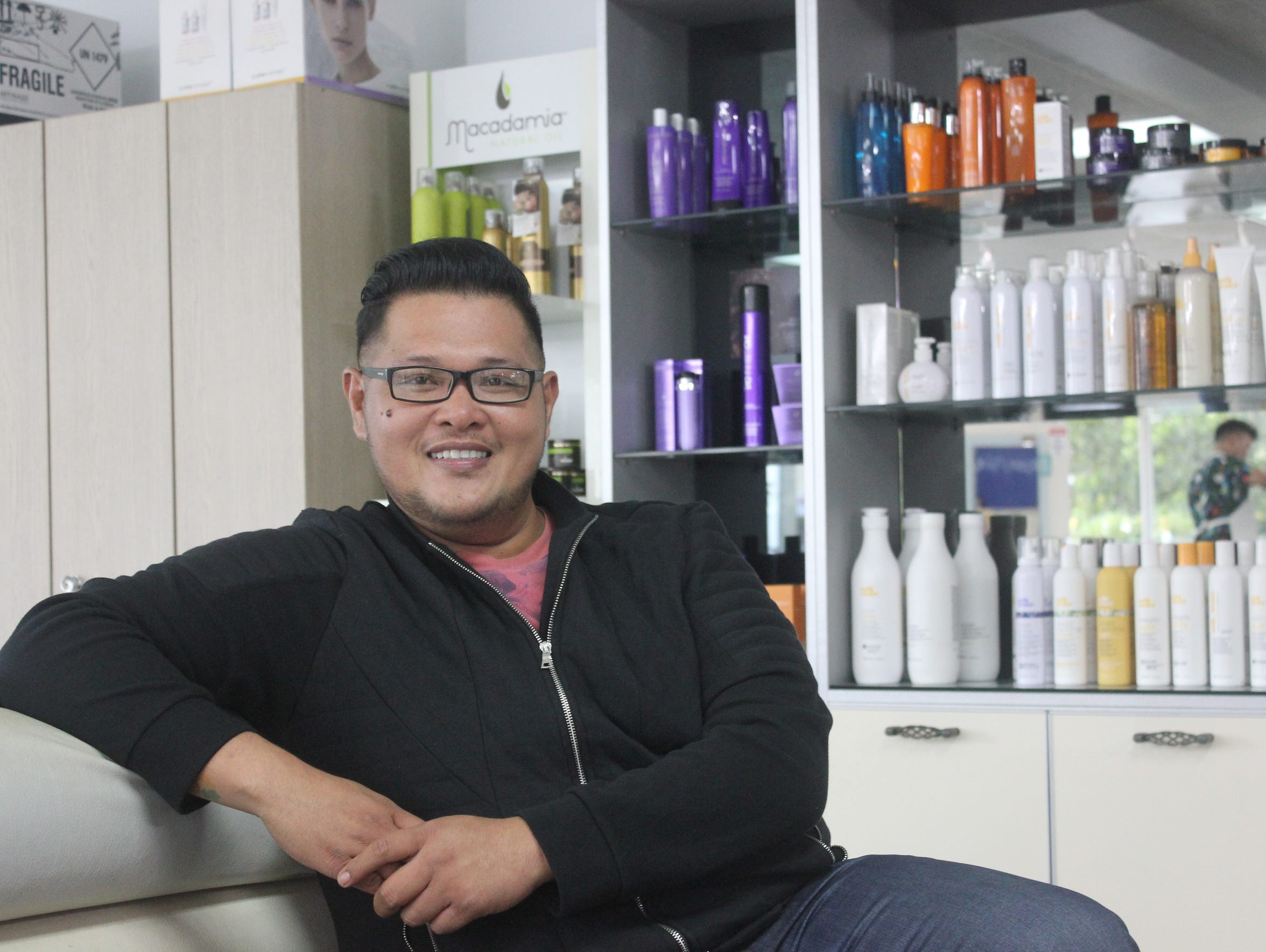 Andrew Hernandez at Oceans Salon wins Best Hair Stylist.