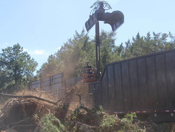 Crews contracted by Leon County to pick up post-Hurricane