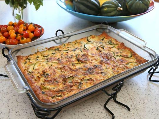 Barbara Glazer's zucchini onion bake is a popular family dish.