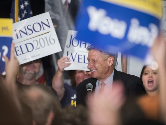 Libertarian Presidential Candidate Gary Johnson holds event