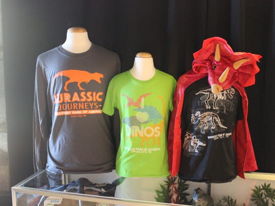 Merchandise will be for sale at the Jurassic Journeys exhibit at Discovery Park of America.