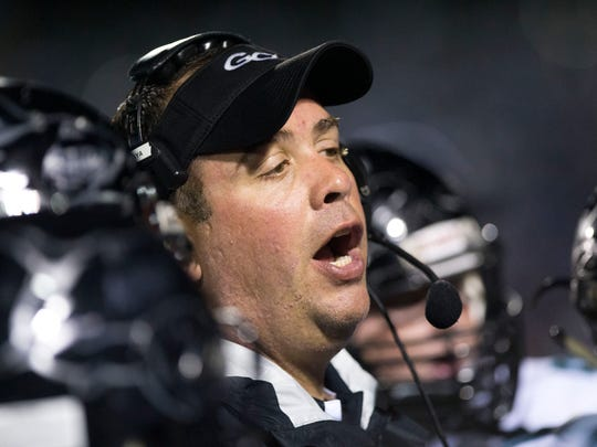 Pete Fominaya went 29-32 in his six years at Gulf Coast, but 24-17 with three playoff appearances in the last four seasons. Fominaya stepped down as Gulf Coast's coach this week, accepting the head football position at Hiram High School in Georgia. File photo