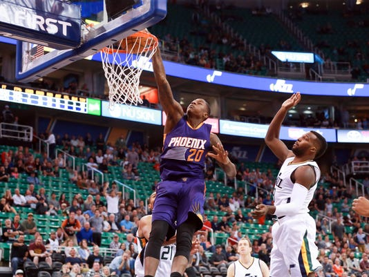 NBA: Preseason-Phoenix Suns at Utah Jazz