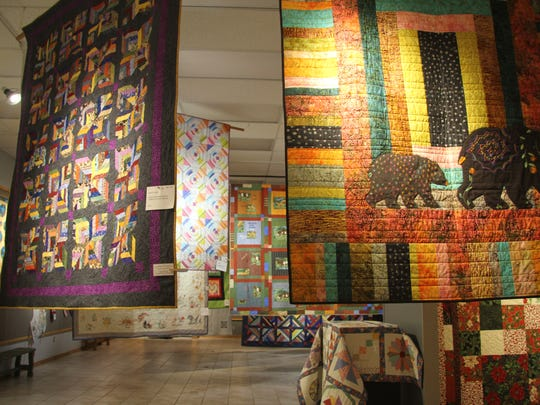 Quilts featured in the exhibit were recently created