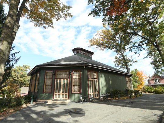The historic 19th century octagonal Mount Tabor Tabernacle on its 20th anniversary of great concerts.  October 19, 2016, Mount Tabor, NJ.