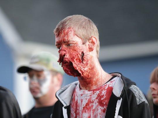 Josh Hooten attends the Zombie Walk in Broad Ripple,