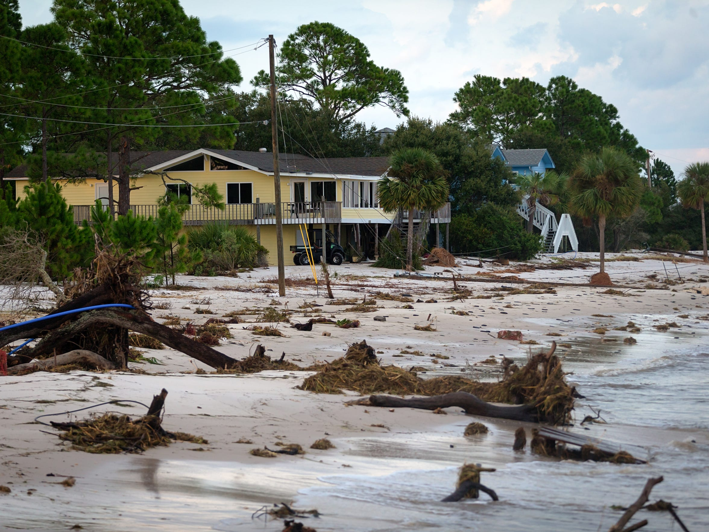 A day after Hurricane Hermine made landfall nearby,