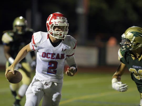 Quarterback Kenny Pickett will try to lead Ocean to a win over Point Pleasant Boro Friday night.