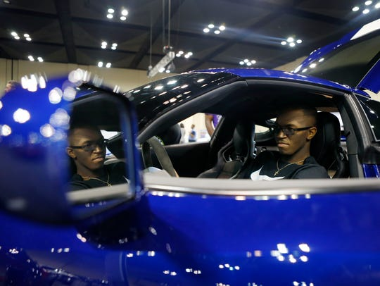 Last year, Mario Anderson checked out a 2017 Chevrolet Corvette during the Memphis International Auto Show at Memphis Cook Convention Center