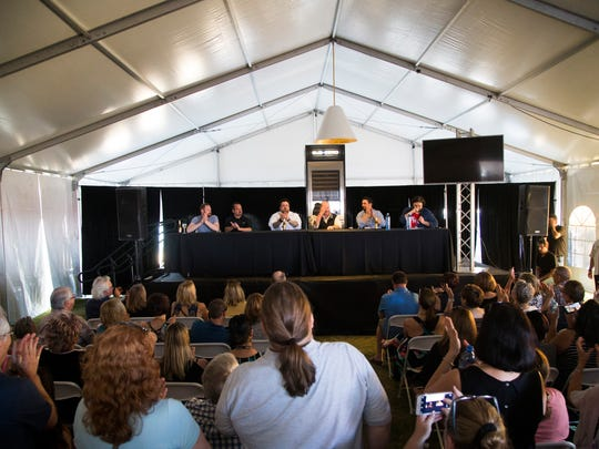 The All-Star Chef Panel featuring Mario Batali, Alex