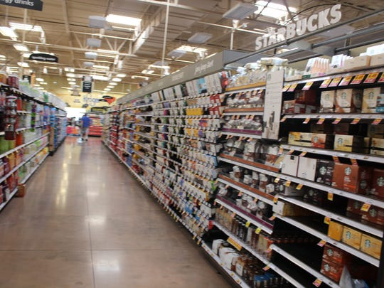 Store shelves stocked before Camp Forbing Kroger Marketplace opens  its doors Nov. 18