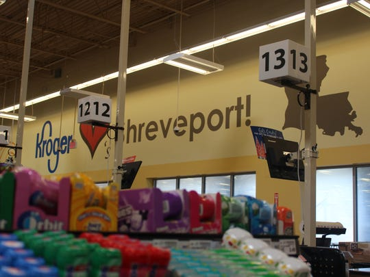 A look inside the new Kroger Marketplace, where the company put up an expression of love for Shreveport.
