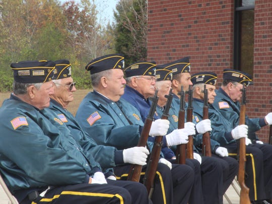 The Houston County Honor Guard at the Tennessee Ridge