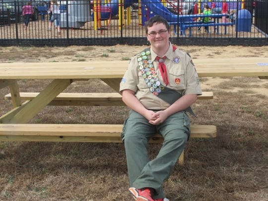 Eagle Scout Tyler Stepper built the handicap accessible