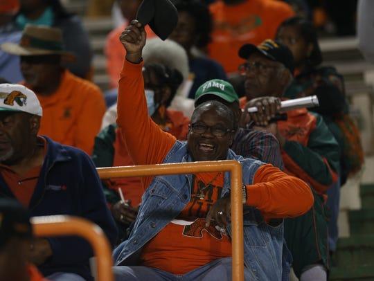 Fans watch as FAMU takes on Morgan State at Bragg Memorial