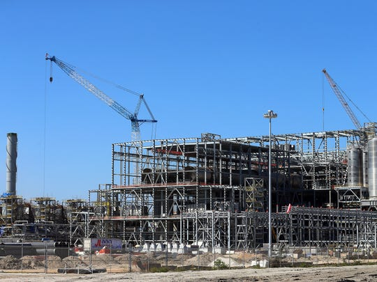 Construction continues at the M&G Resins USA plant