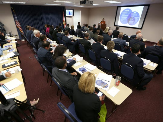 Newly elected Florida House Representatives attend their orientation at the Capitol Building on Tuesday, Nov. 15, 2016.