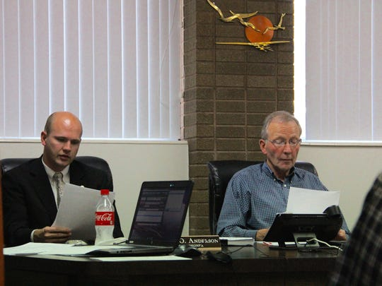 Iron County Commissioners discuss the recent election and consolidating debt in a special meeting on Tuesday, Nov. 22, 2016.