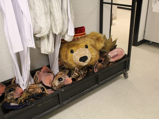 Bits and pieces of Cincinnati Ballet's production of 'The Nutcracker' inhabit the backstage hallways of the Kennedy Center Opera House.