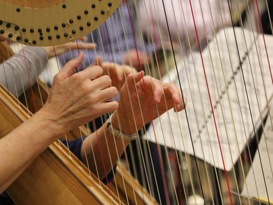 """Harps. Tchaikovsky used harps liberally in """"The Nutcracker."""" The Kennedy Center Opera House Orchestra includes two of them."""