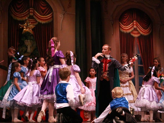"Etudes de Ballet will present its second ""Fairy Tale Nutcracker"" this weekend. This party scene is from its 2015 production."