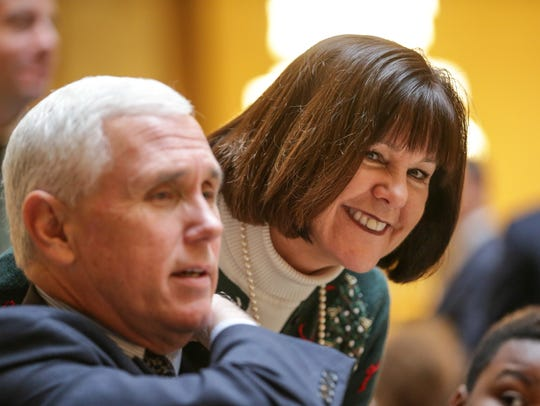 Vice President-elect Governor Mike Pence, and First