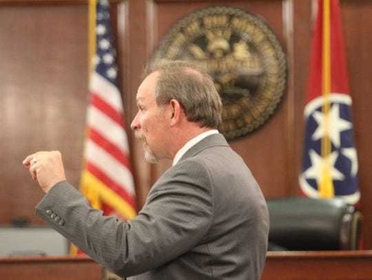 Assistant District Attorney Robert Nash gives closing