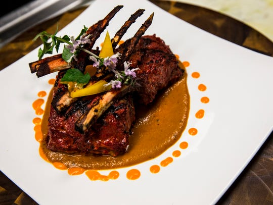 A speciality lamb dish prepared by Executive Chef Asif