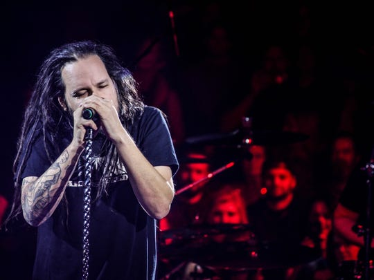 Jonathan Davis of Korn performs at Alice Cooper's Christmas