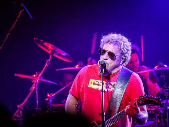 Sammy Hagar performs at Alice Cooper's Christmas Pudding.