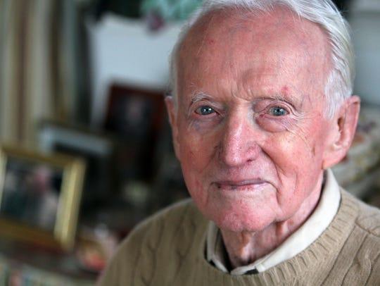 Pearl Harbor survivor Ralph Jeffers at his Oakhurst