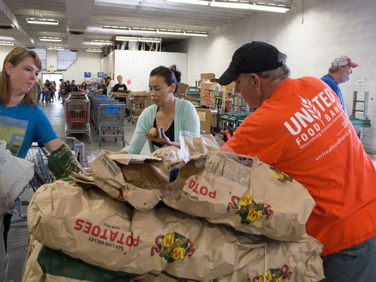 The United Food Bank location in Mesa is one of five member food banks under the Association of Arizona Food Banks.