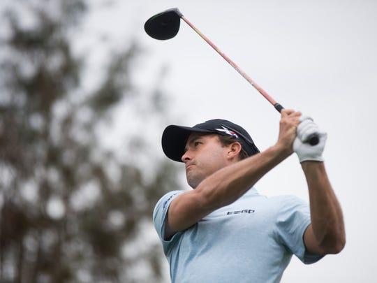 PGA Tour Pro Kevin Kisner drives the ball during the first round of the Franklin Templeton Shootout at Tiburón Golf Club at The Ritz-Carlton Golf Resort Thursday, Dec. 8, 2016 in Naples.